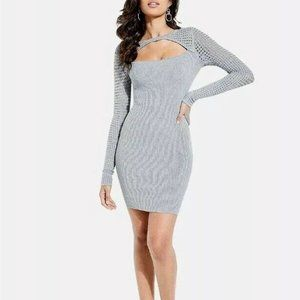 Guess Alison Amory Cutout Ribbed Sweater Dress Med